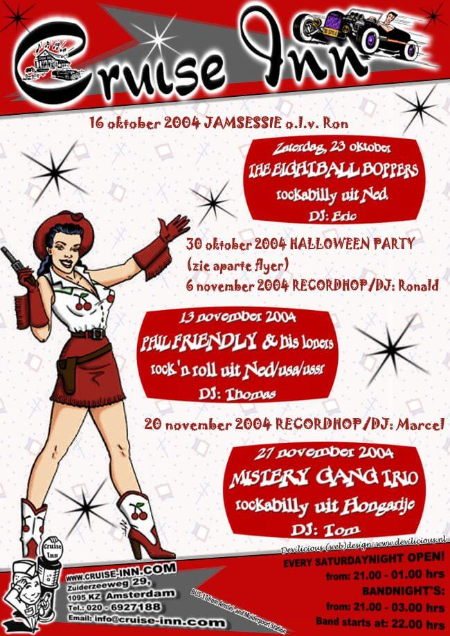 Cruise Inn - bandposter okt/nov 2004