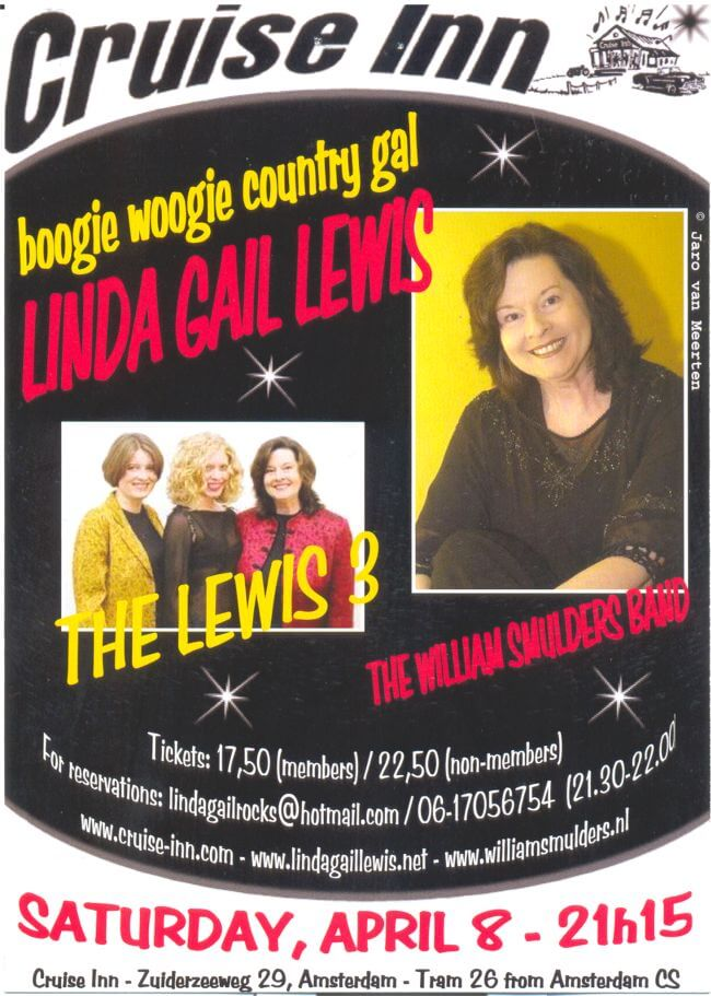 poster Linda Gail Lewis 2006 - rock n roll bandnight