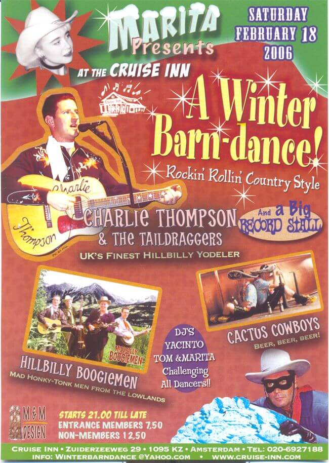 poster winternbarndance 2006 - rock n roll bandnight