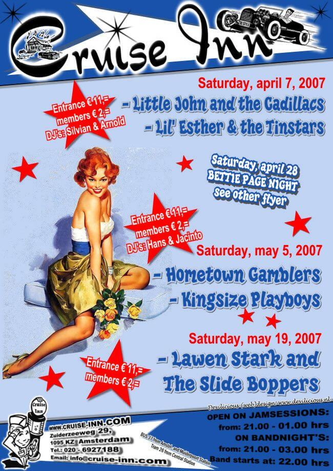 poster april/mei  2007 - rock n roll / rockabilly bandnight