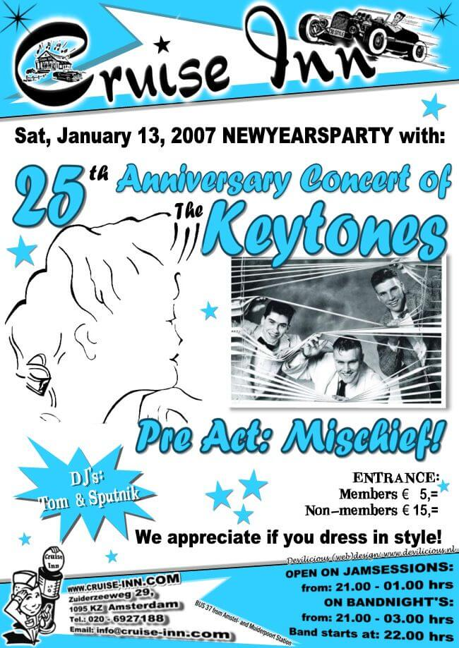 poster new years party  2007 - rock n roll bandnight