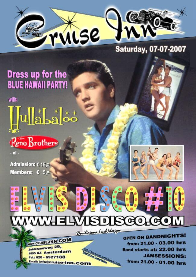 poster elvis disco 2007  - rock n roll bandnight