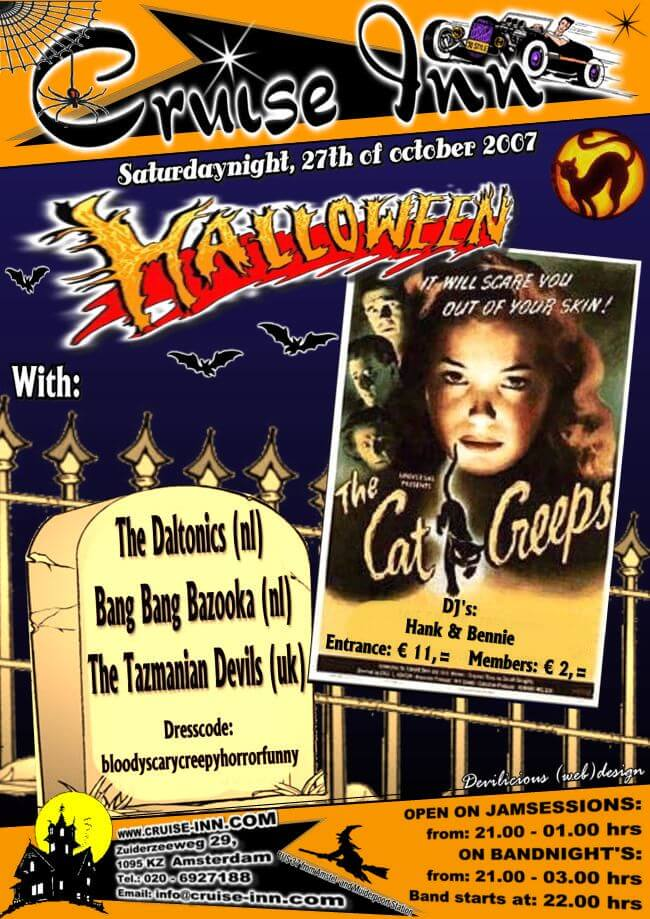 poster halloween 2007 - rock n roll bandnight