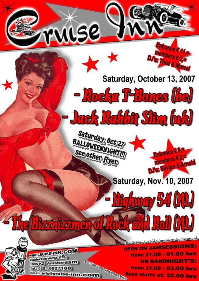 poster okt/nov 2007 - rock n roll bandnight