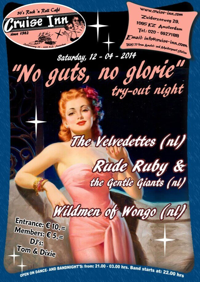 poster bands tryout - rocka n roll / rockabilly - 2014