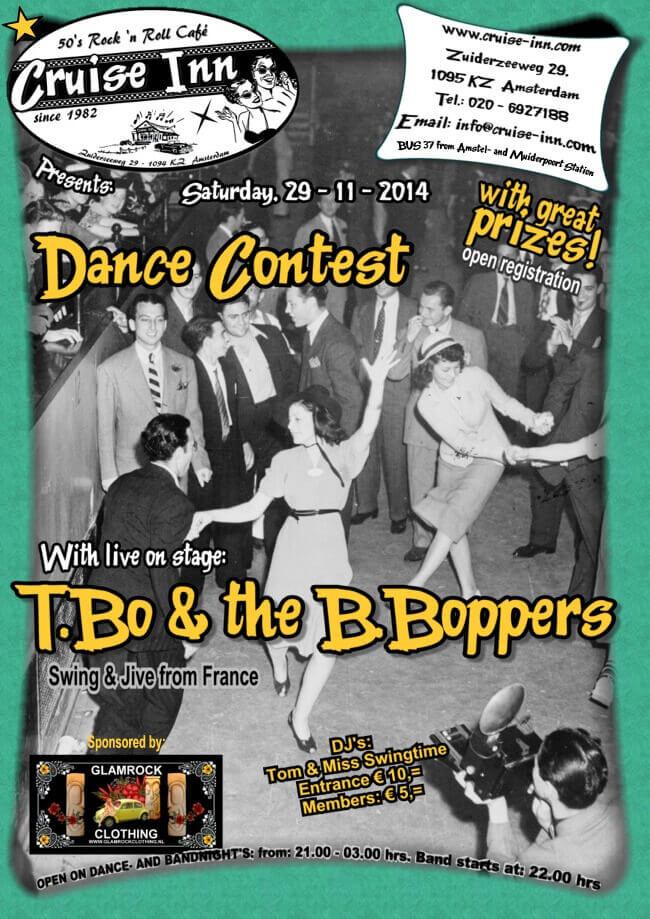 poster nov. 2014 - dance contest / swing & jive band