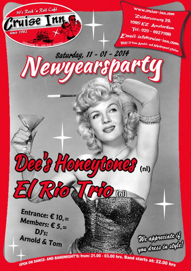 poster new years party 2014 - rock n roll bandnight