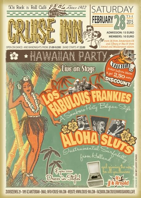 poster Hawaiian party - rock a tiki bandnight