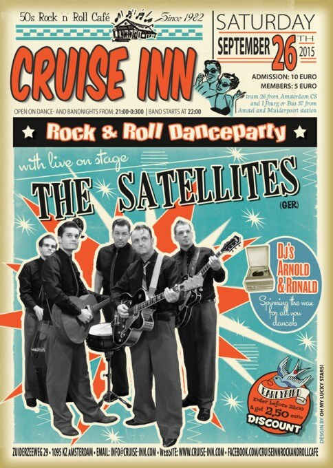 Poster bandnight - The Satellites  (GER) op  26 sept 2015 - Cruise Inn