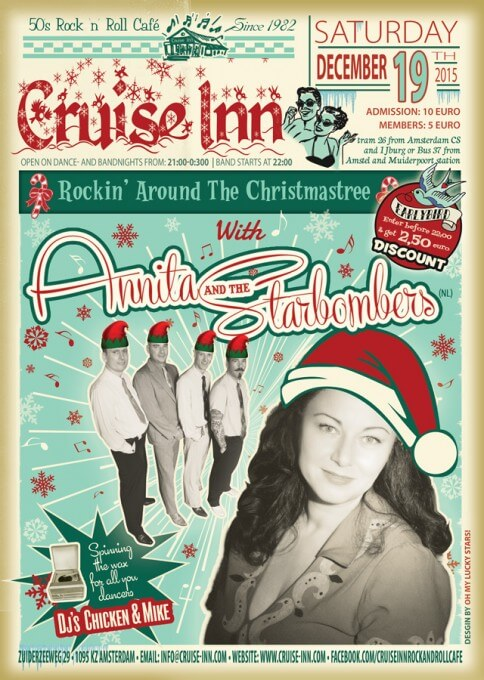 Poster bandnight - Annita and the Starbombers (NL) 19-12-2015 - Cruise Inn
