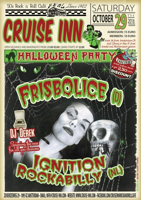 Halloween bandnight 2016 - Cruise Inn, rock n roll cafe