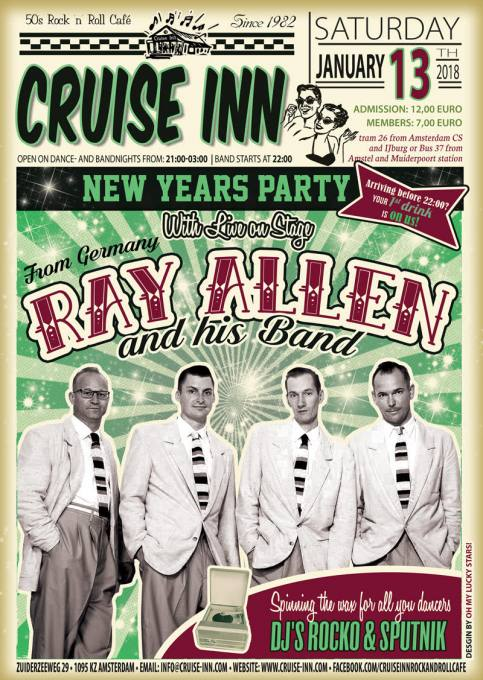 13 jan 2018 - New Years Party - Rock n roll party - Cruise Inn