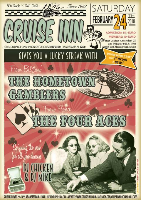 24-02-2018 - bandnight with Hometown Gamblers and the Four Aces  - Cruise Inn
