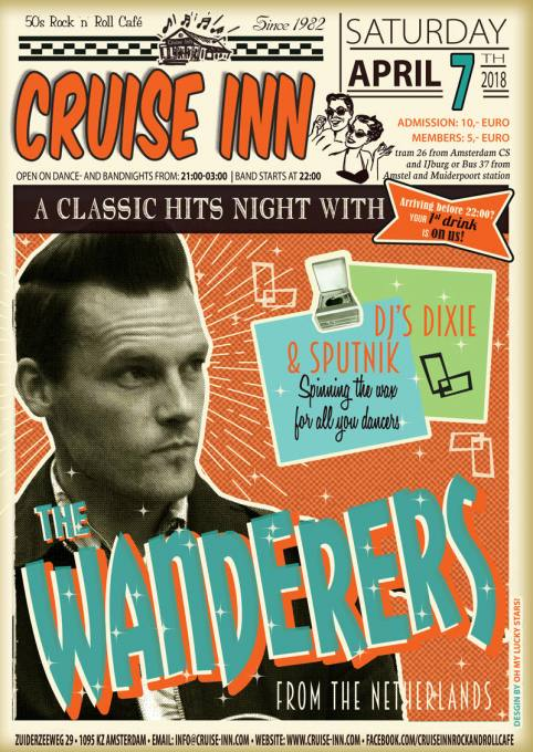 Rock n roll classic hit with the Wanderers, Cruise Inn - Amsterdam