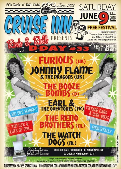 Free Festival Rock N Roll D Day 2018 Rock Roll Café The Cruise