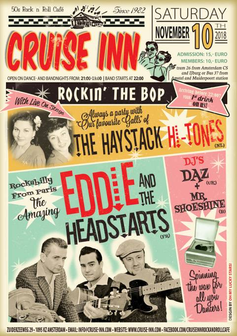 Rock n roll bandnight with Haystack Hi-tones and Eddie and the Headstarts