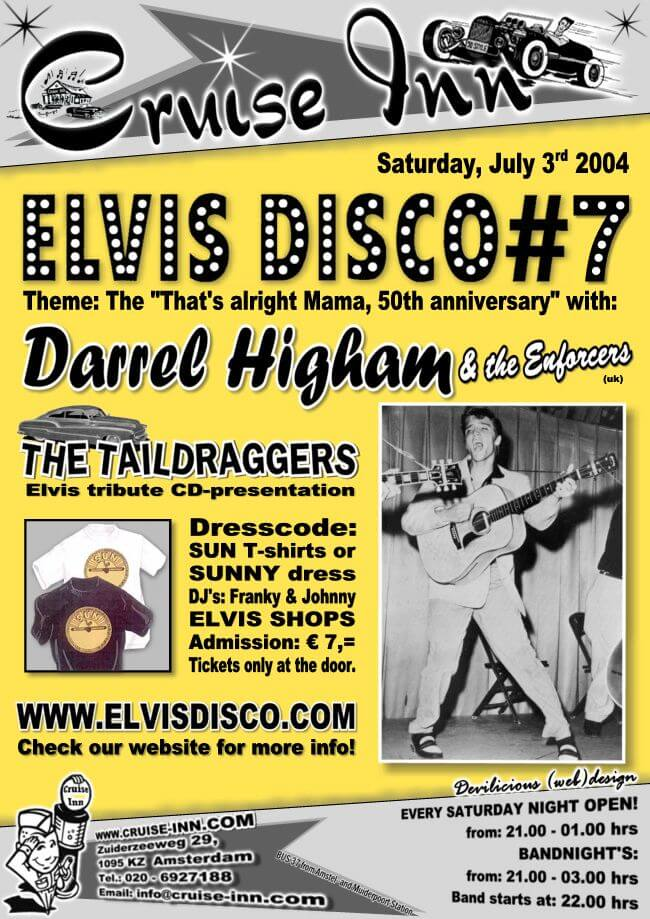 poster elvis disco 2004 - rock n roll bandnight