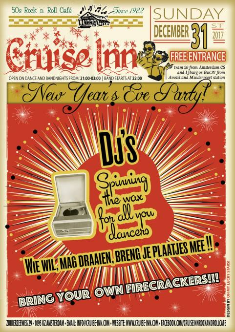 Poster New Years Eve party - Cruise Inn - rock n roll cafe, Amsterdam